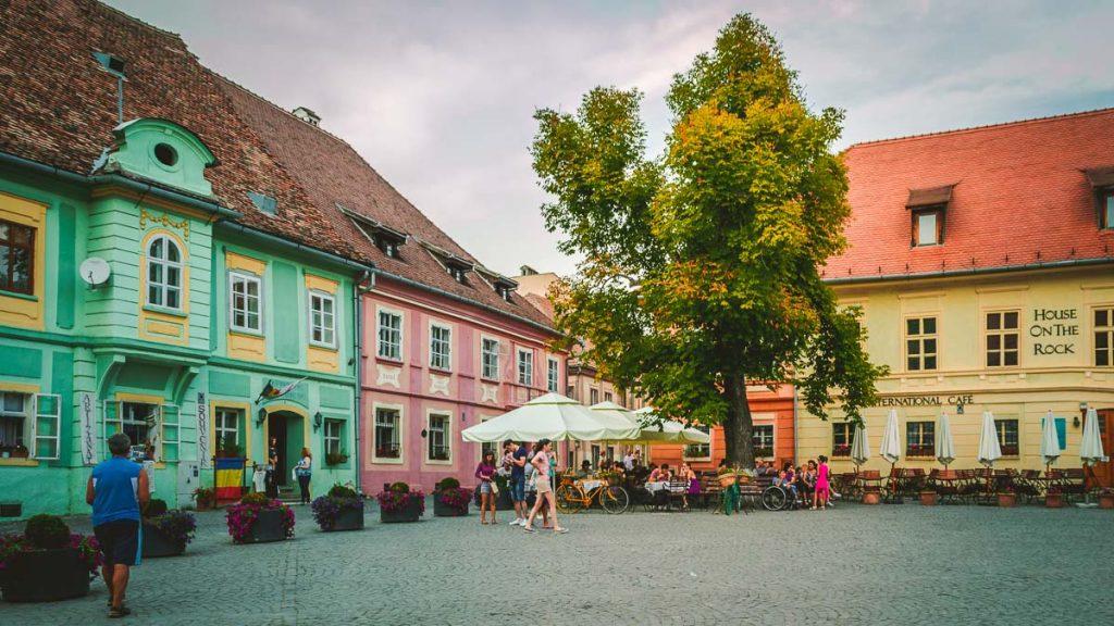 The Citadel Square in Sighișoara.