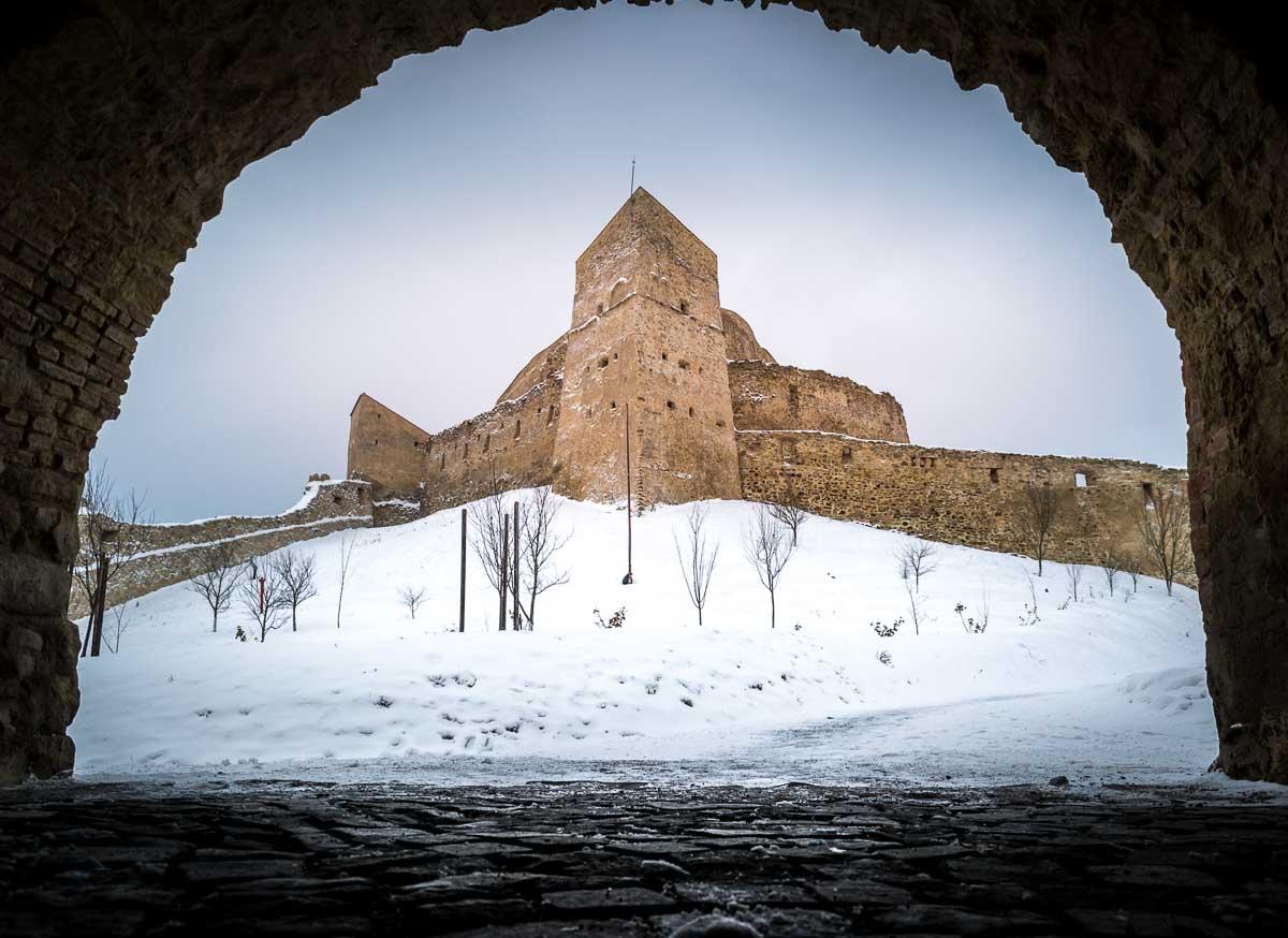 The entrance into Rupea citadel.