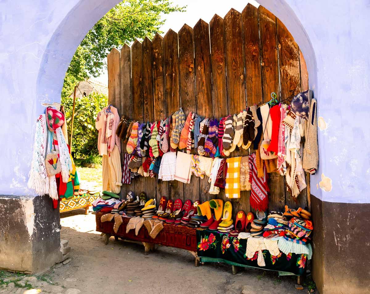 Handmade traditional clothing.
