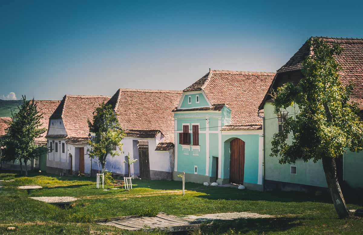 Old traditional saxon houses in Viscri.
