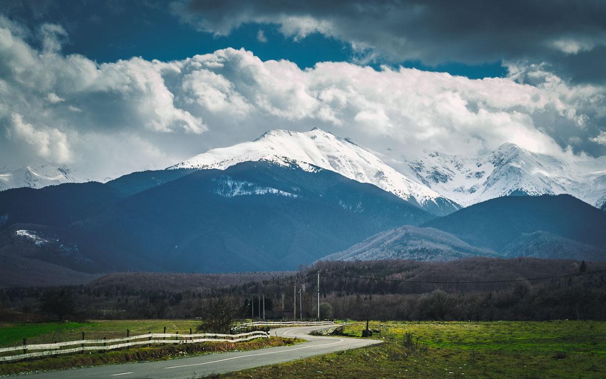 The Fagaras mountains near the village of Porumbacu de sus.