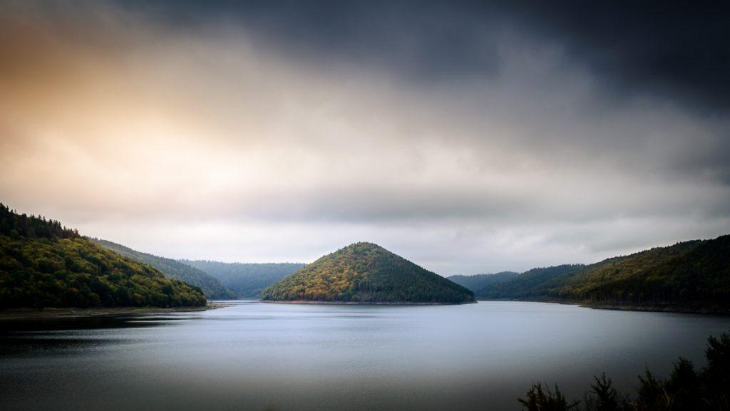 The lake Zetea in the heart of Transylvania.