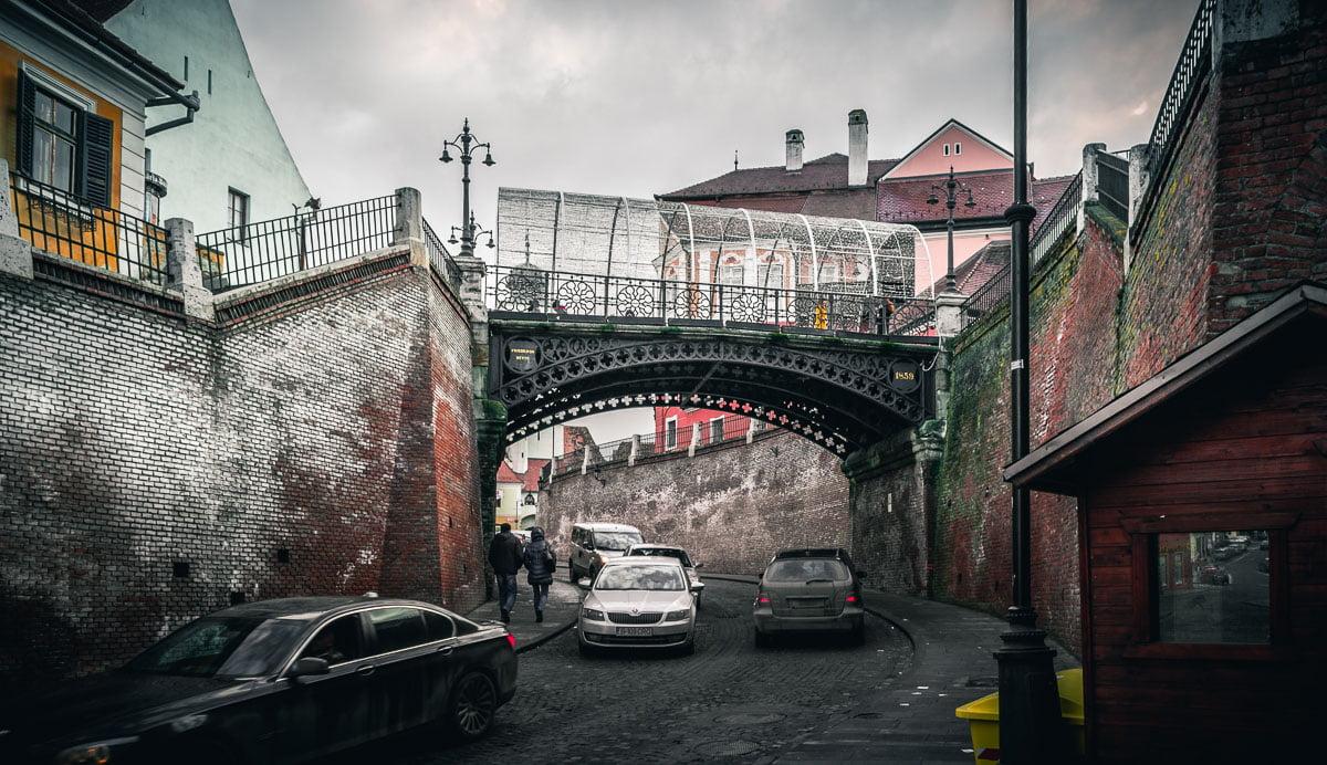 The Bridge of Lies in Sibiu.