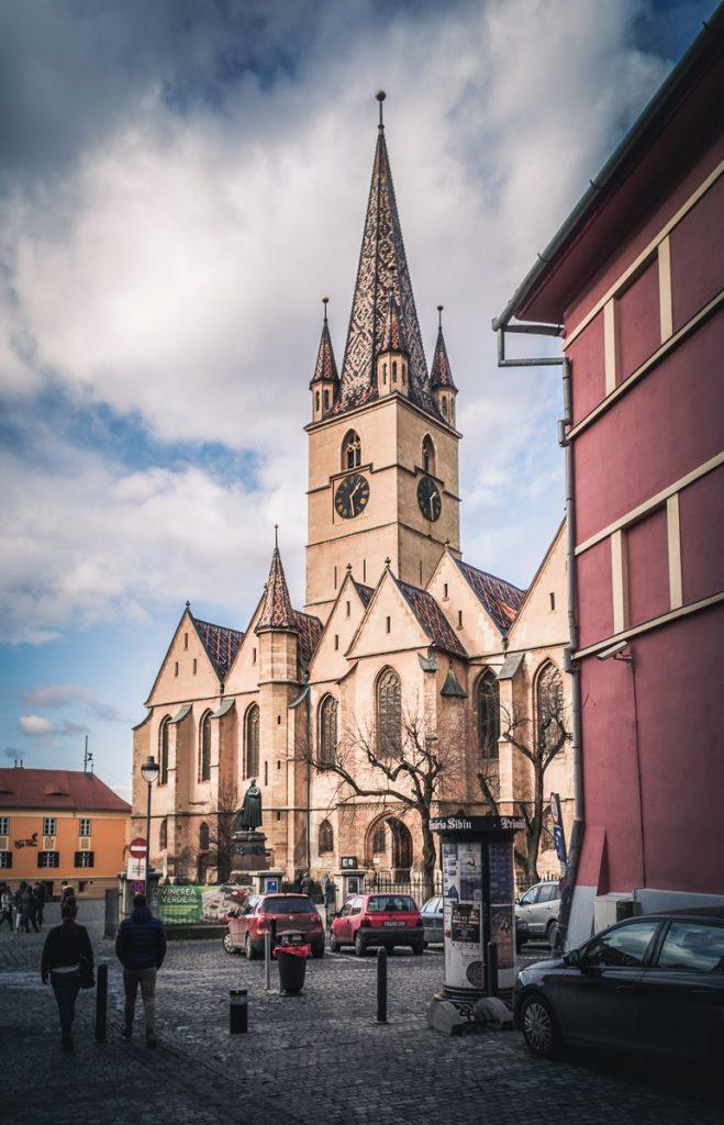 The Lutheran Cathedral in Sibiu.