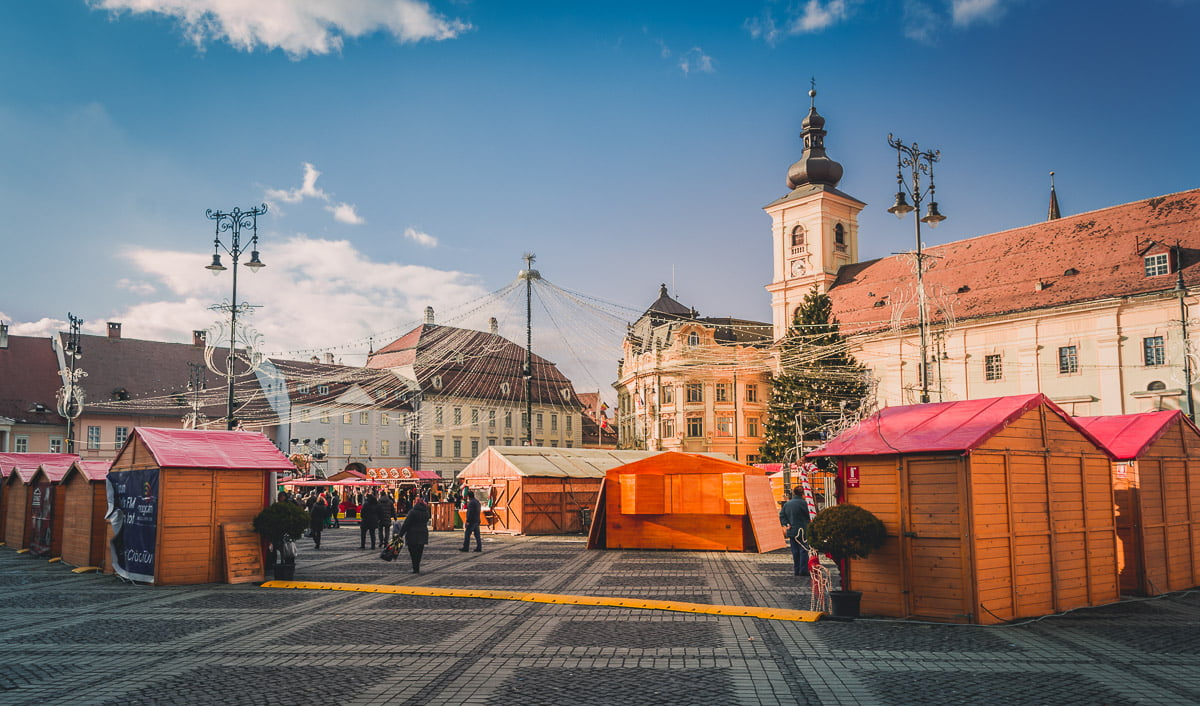 Christmas fair in the Large square.