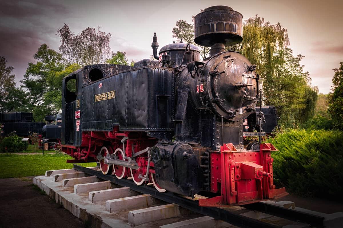 Principesa Elena steam locomotive in the museum.