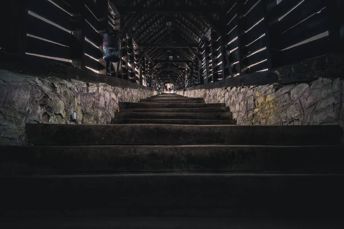 The Covered Stairways in the medieval citadel.