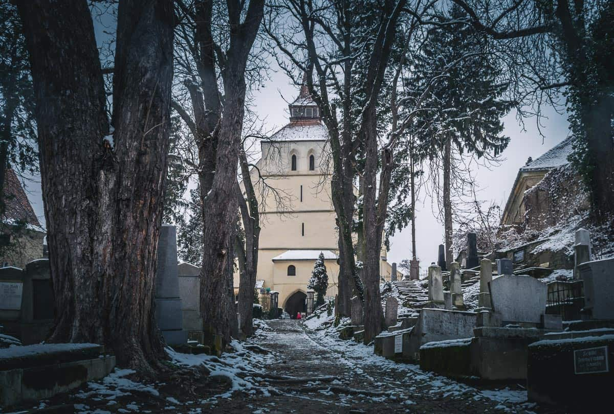 The Church on the Hill and the old Saxon cemetery.