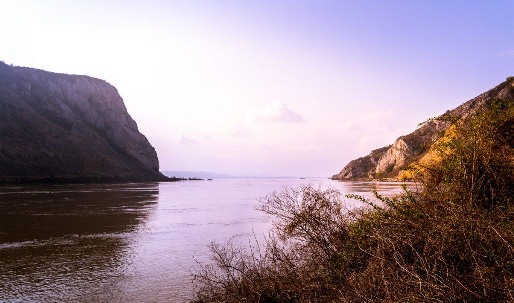 The Danube river near Golubac fortress.