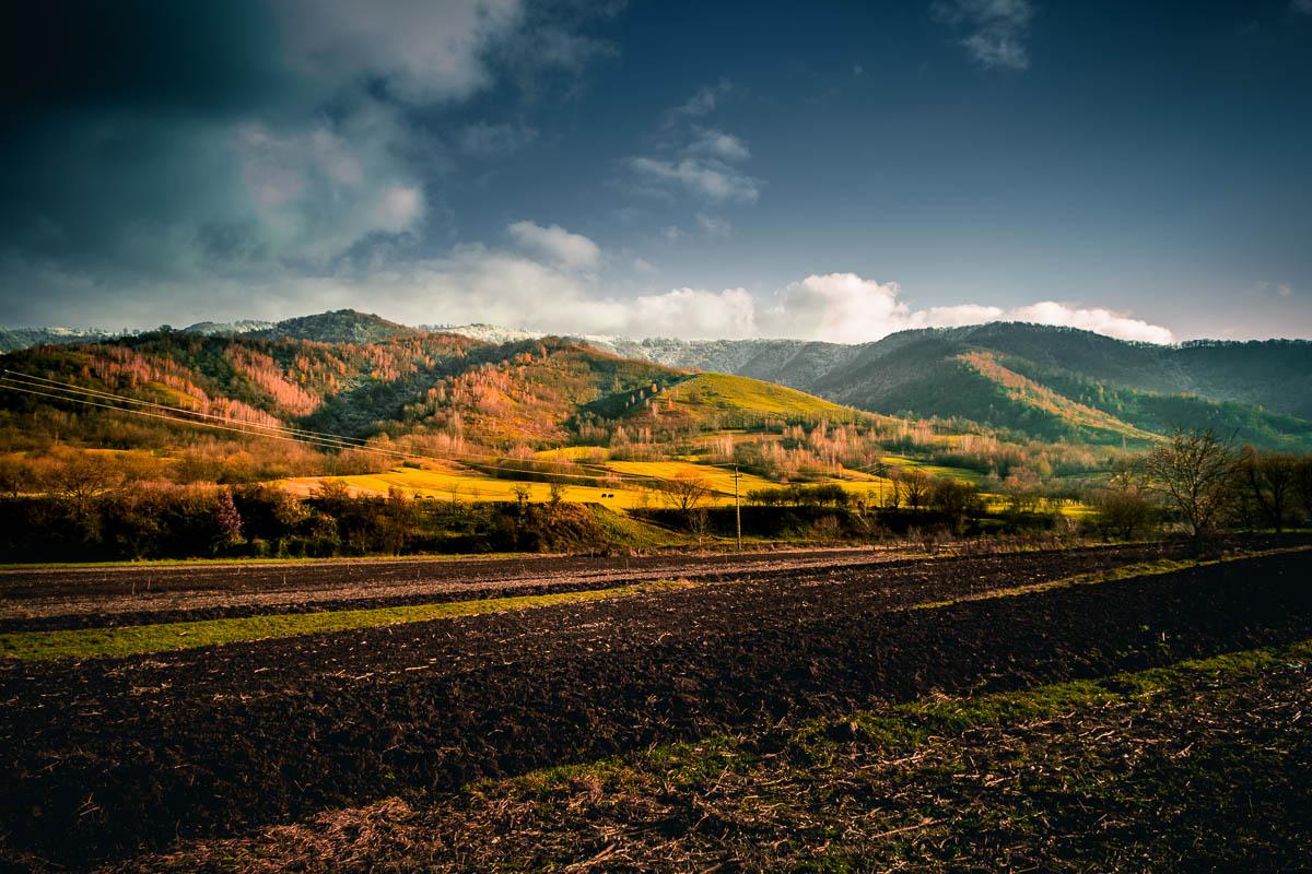 The Orăştie mountains in Costești