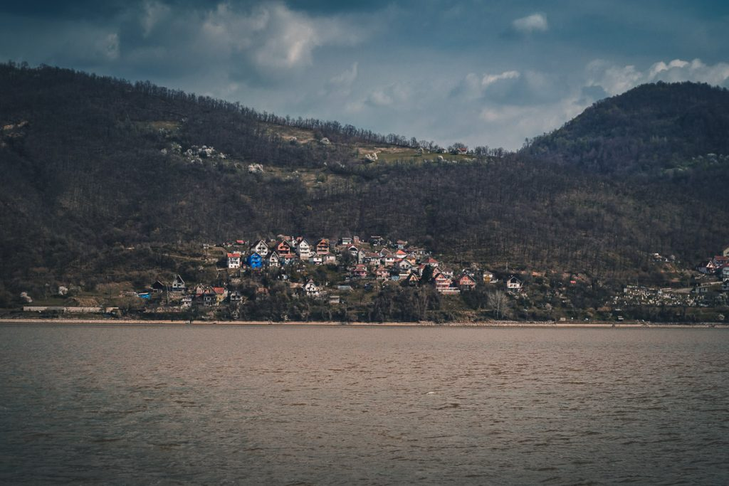 Small village on the Serbian side.