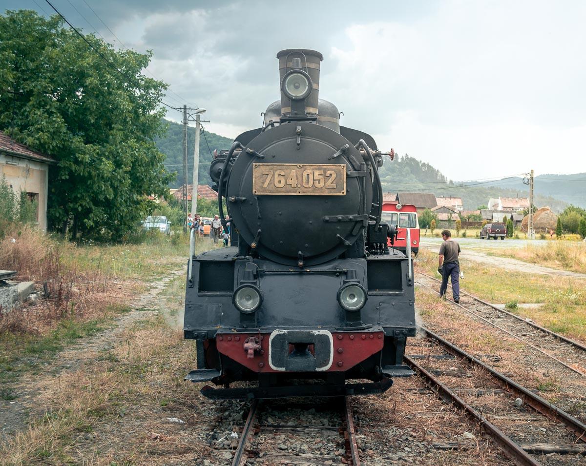 764.052 narrow gauge steam locomotive in Sovata.