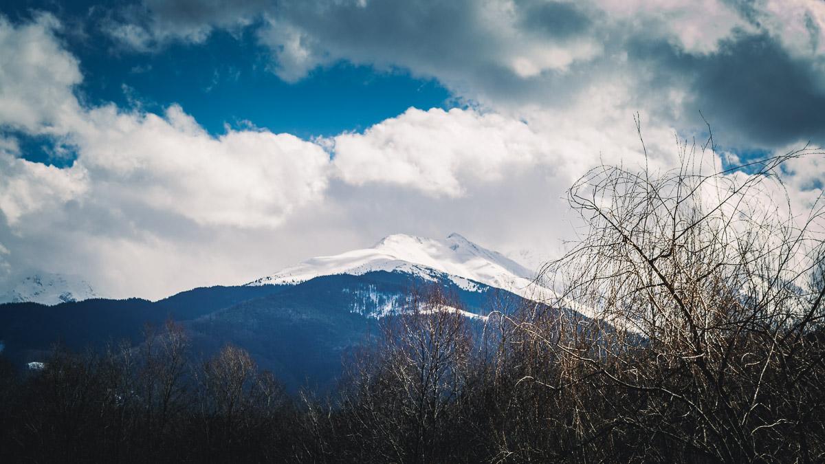 The Făgăraș mountains in spring.