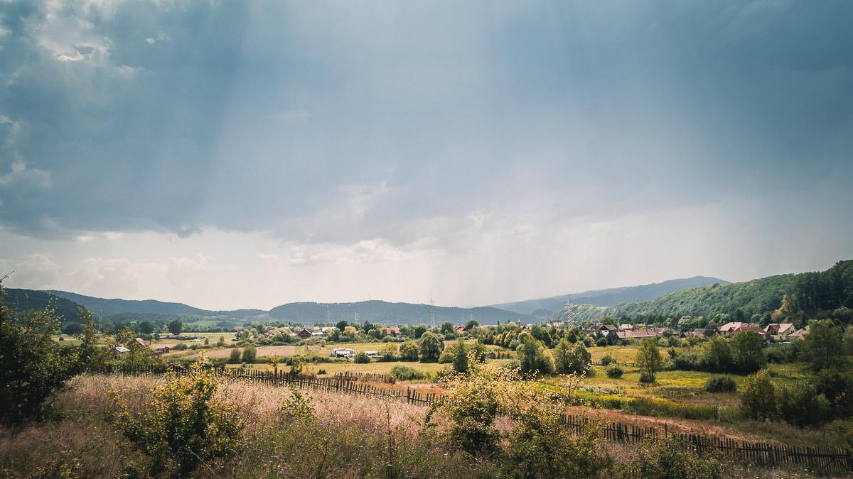 Transylvanian rural landscape.