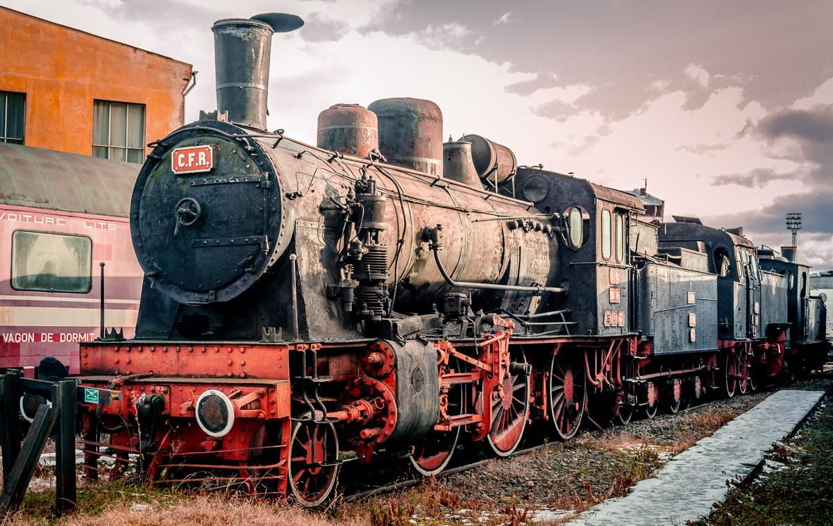 The CFR 130.503 in the Sibiu steam locomotive museum.