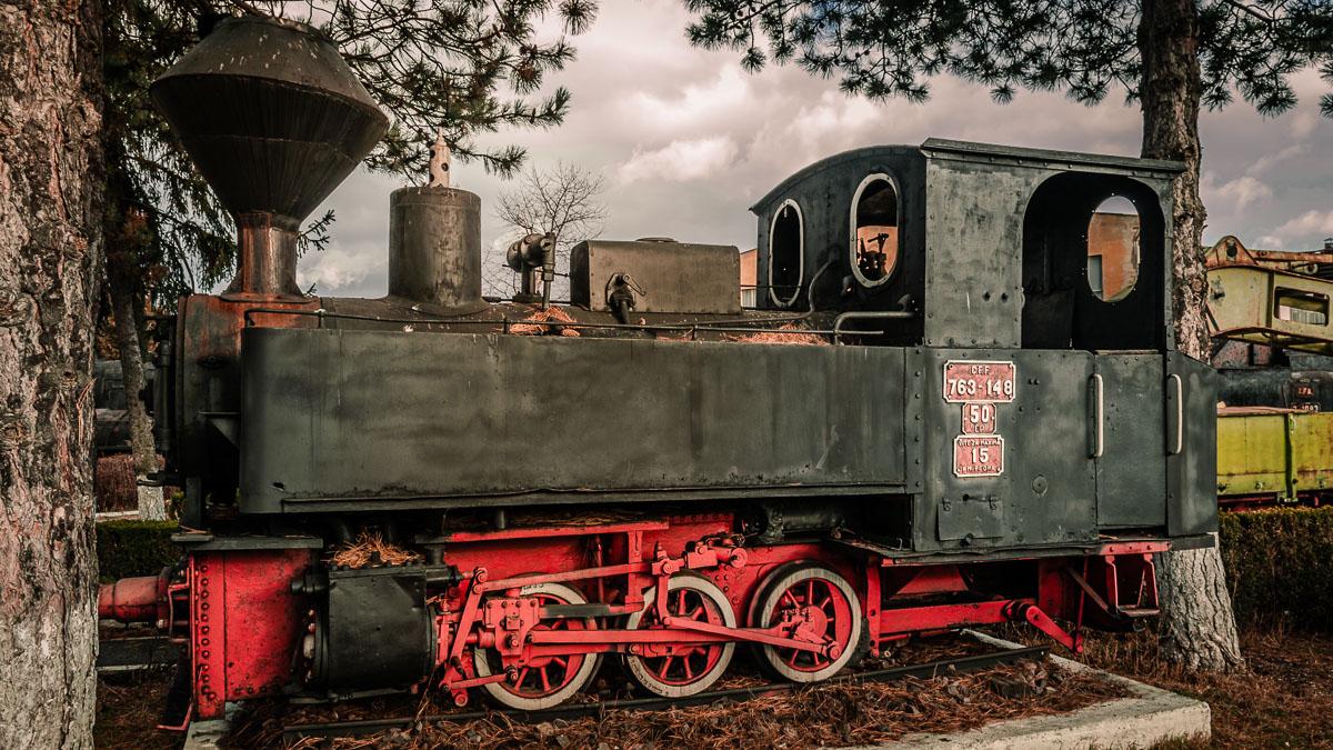 CFR 763-148 narrow gauge steam locomotive in Sibiu.