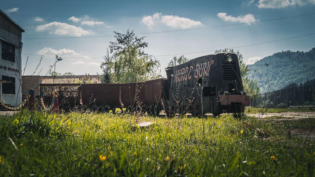 Mine train in Petrila