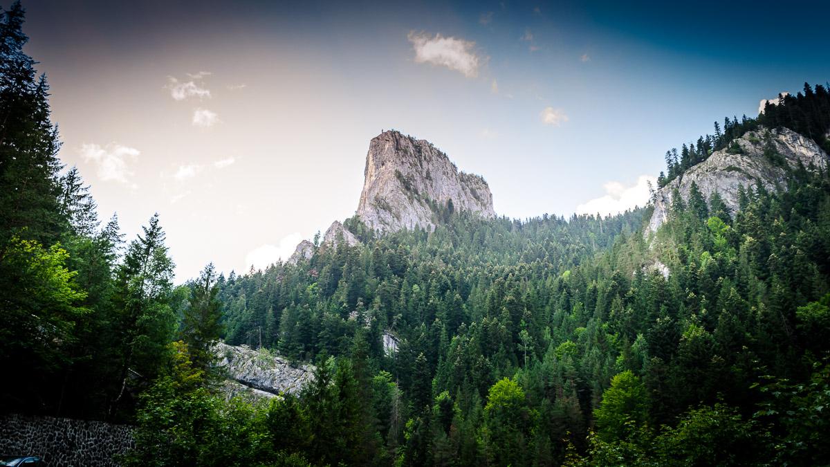 The Piatra Altarului Mountain next to the Bicaz gorge.