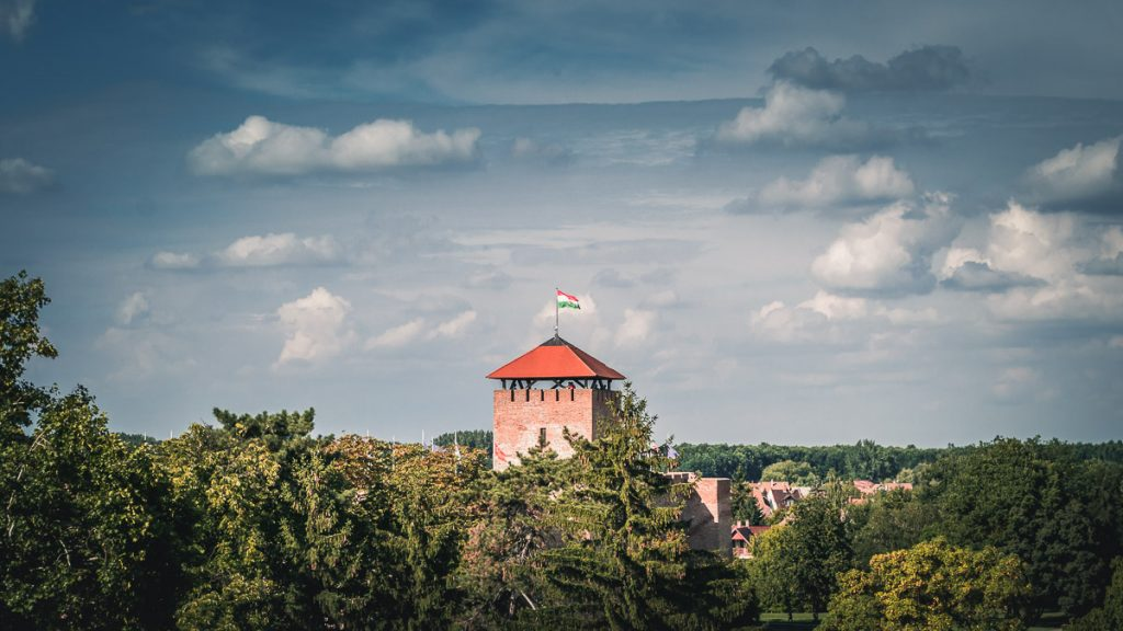 The Gyula Castle tower.