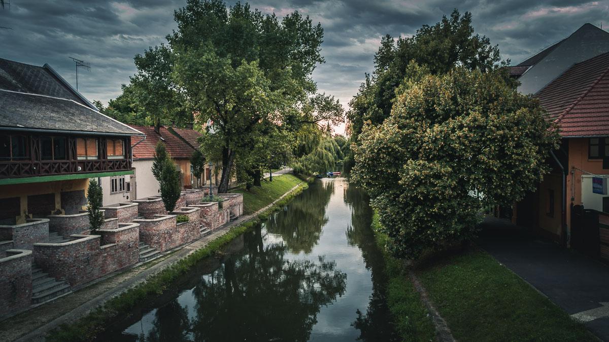 The Élővíz canal in the city of Gyula.