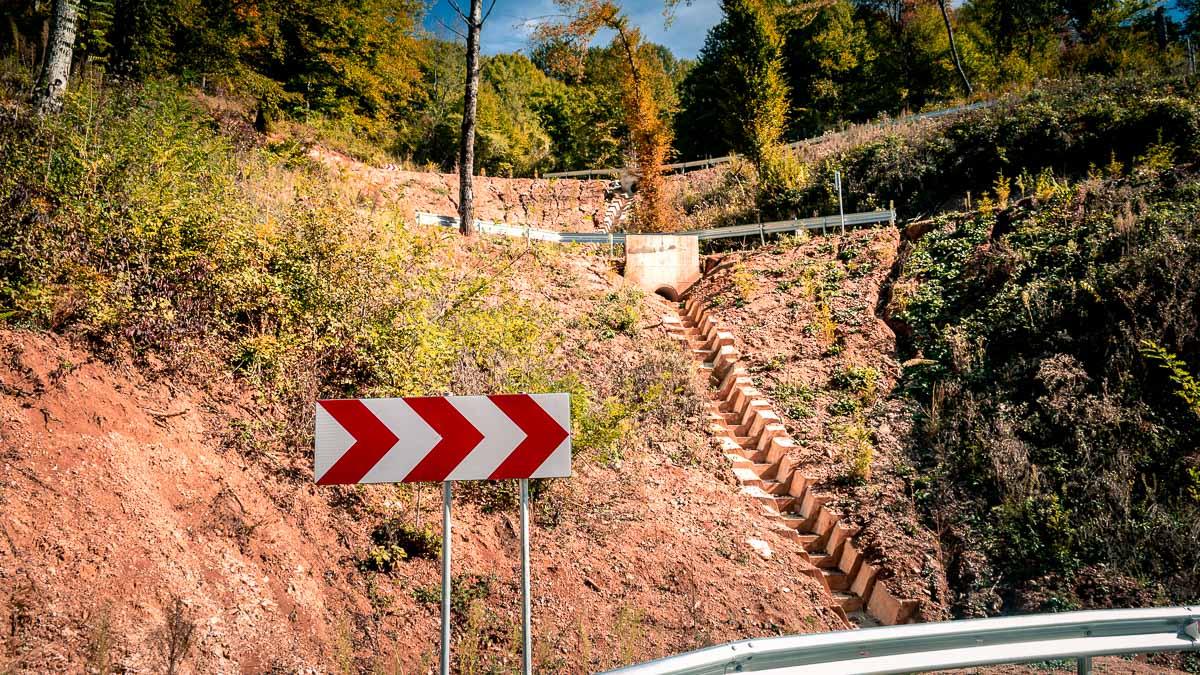 Road drainage.