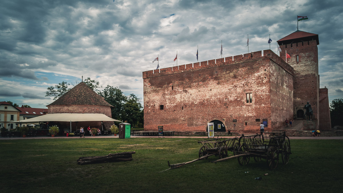 The Gyula castle in the summer.
