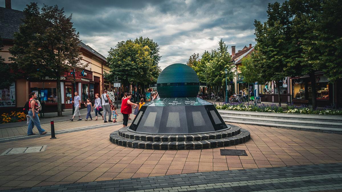 The World Clock in Gyula.