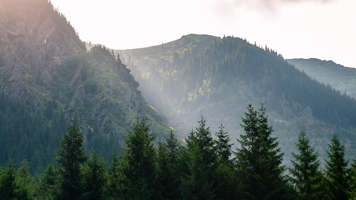 The Făgărăș Mountains.